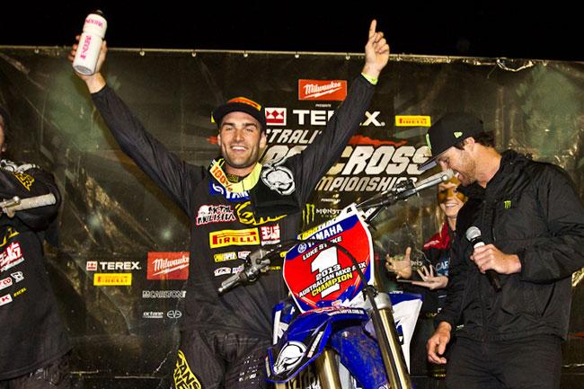 Luke Styke on the podium at Toowoomba last year
