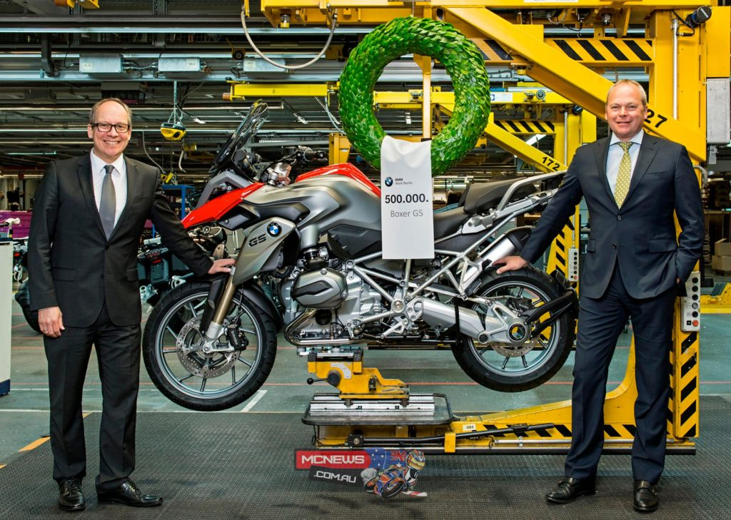 Today the 500,000th BMW motorcycle of the flat-twin-engined GS model series came off the production line - a R 1200 GS
