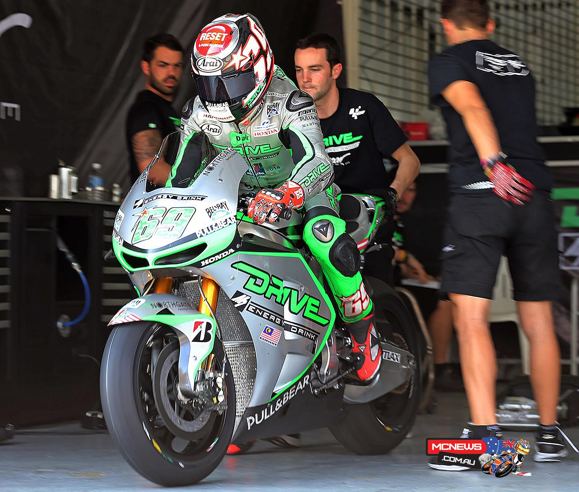 """Nicky Hayden (Drive M7 Aspar Honda): 15th, 2m 01.924s - """"We have worked really hard over the last three days here and we have gathered a lot of information that has given us a better understanding of the bike, although we still haven't made the major step we are looking for. We still don't know why we're struggling so much to get the bike stopped into the corners so we need to work more with the electronics. It has been a strange day and we lost some time making alterations to the set-up to adapt to the heat. We know our potential is much higher than we have been able to show here so we can be optimistic and go to Qatar next week ready to put some more hard work in. It will be interesting to see how the bike performs at a different track but we have a lot to do there to make sure we are ready for the first race."""""""