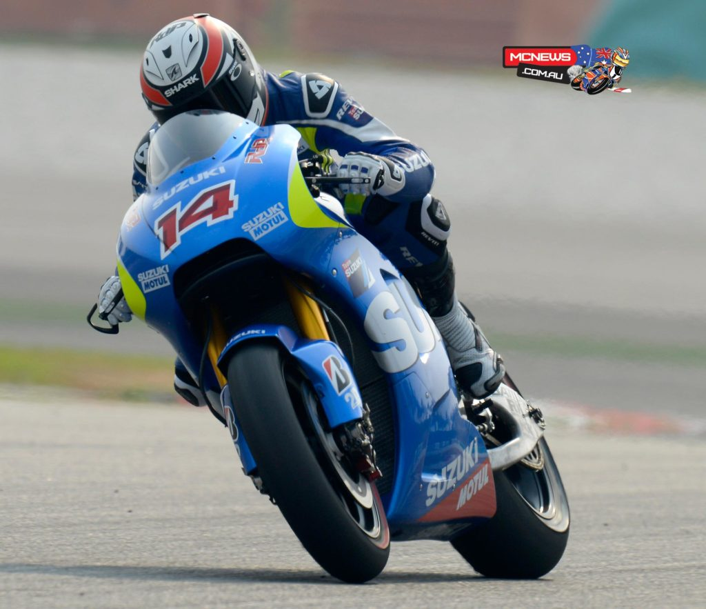 """Randy De Puniet:  """"Today we made good steps with some settings with the electronics by the end of the test and on the last run we found something certainly helped me ride the bike better.   """"Overall we reduced our lap-times gap compared to the first test and I'm now more comfortable on the bike. The character is still a little aggressive but now we have got good information and we have some new direction on what to work-on in the future.  """"We also tested a new frame today and we plan to further-test with more new settings in the future to further evaluate this."""""""