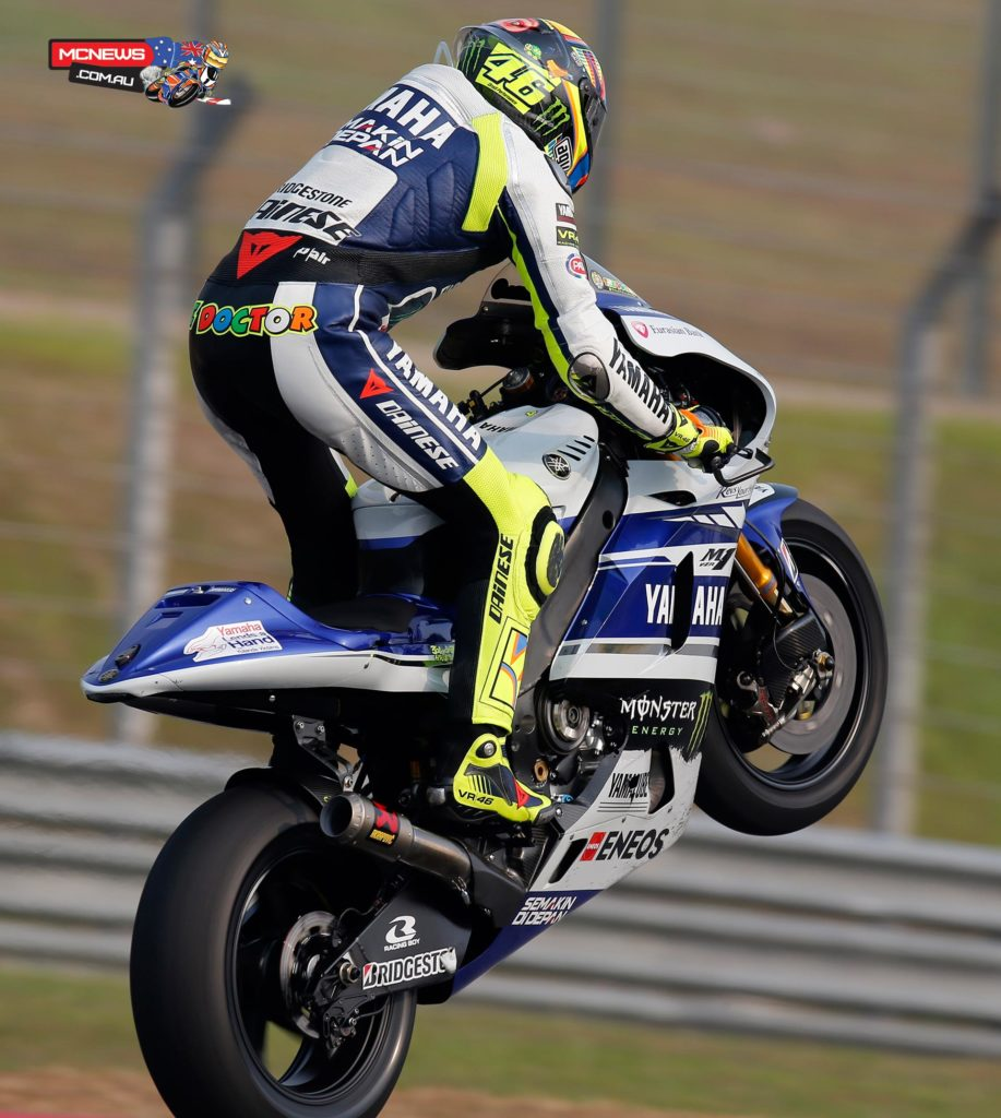"""Valentino Rossi - 1st / 1'59.999 / 41 laps - """"First of all I am very happy because I am in first position and I did a good lap. I was one of the only ones in the 1'59s which is positive, especially because with the 2014 tyres in the first test we tried a time attack and I was more than one second slower than today. This test we have always been at the top and fighting for the first position so it's positive. We still have some problems when it's very hot over long distance with the new tyres, so we still have to work, but we made a good step from the first test. The next test in Philip Island will be very important to understand if also there we improved a lot like here because I am more than one second faster than the second test of last year so we have been working well."""""""
