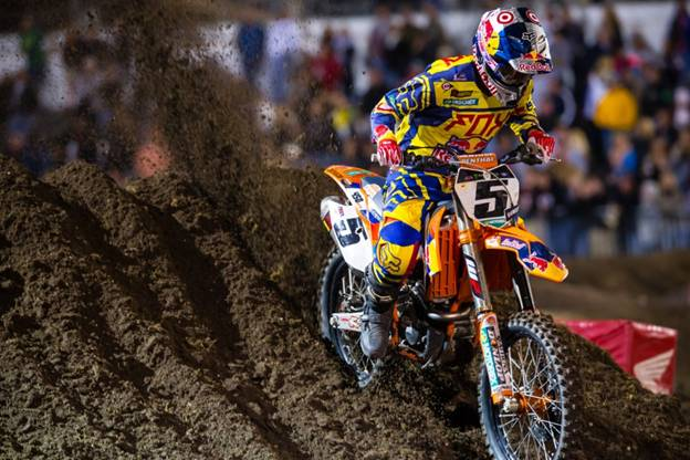 Second in points for 450SX Class Series, Ryan Dungey - Photo Credit: Hoppenworld