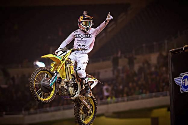 450SX Class Main Event Detroit Main Event winner, James Stewart - Photo Credit: Hoppenworld