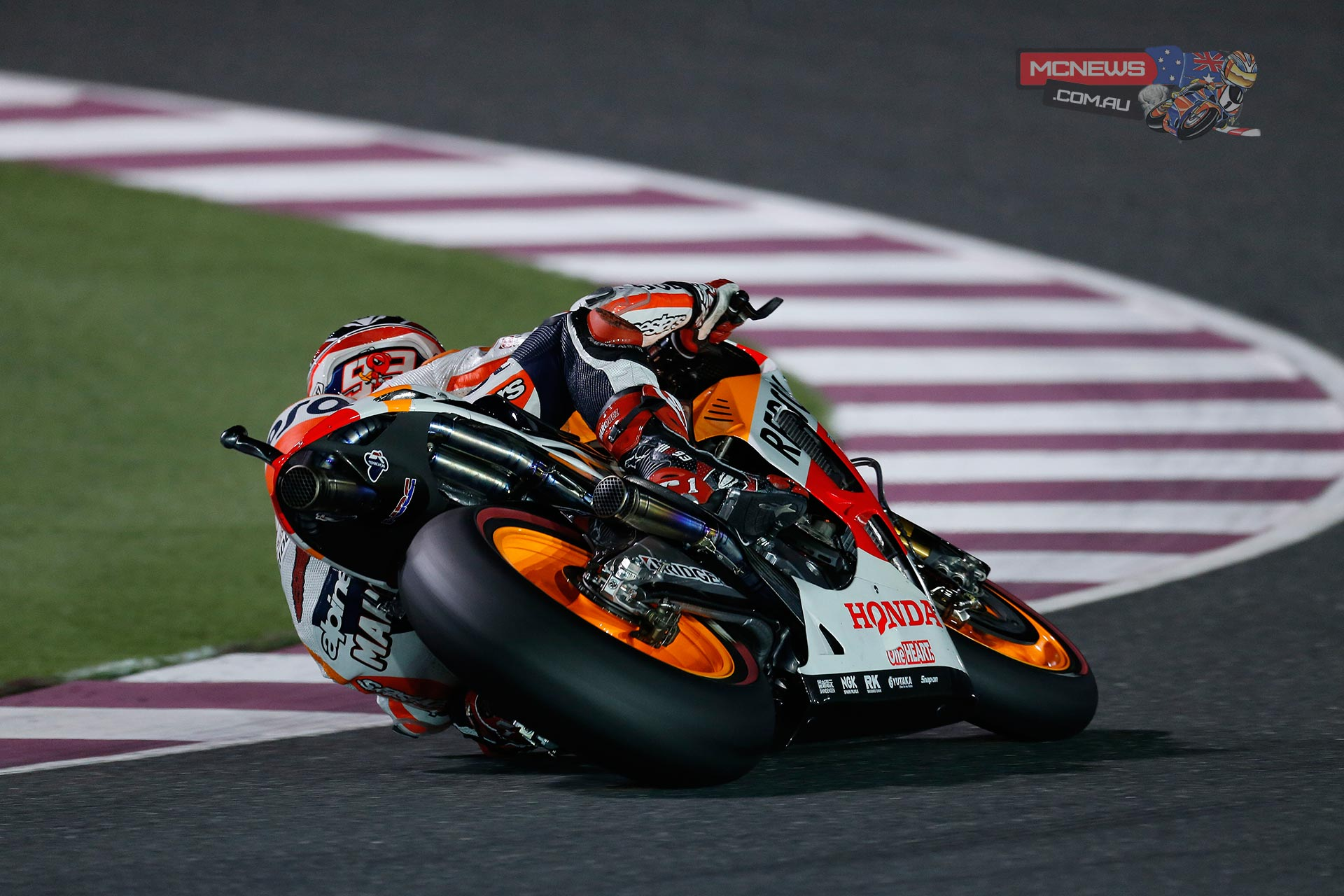 "Marc Marquez - 1st - 1'54.507 - ""I'm really happy and this pole position is a special one for me, because after coming back from injury it gives me a boost in confidence. In any case, we know that tomorrow is the day that counts and it's in the race that points are decided, so we have to be very focused. It is going to be a very tough for me physically, because I don't have much strength in my leg and I have to compensate with my right arm. We are happy with how today went and seem to have found a good setup, with just a few details still to refine in tomorrow's warmup. It will be difficult, because many riders have pace within a tenth of each other, but we shall try to have a good race"""