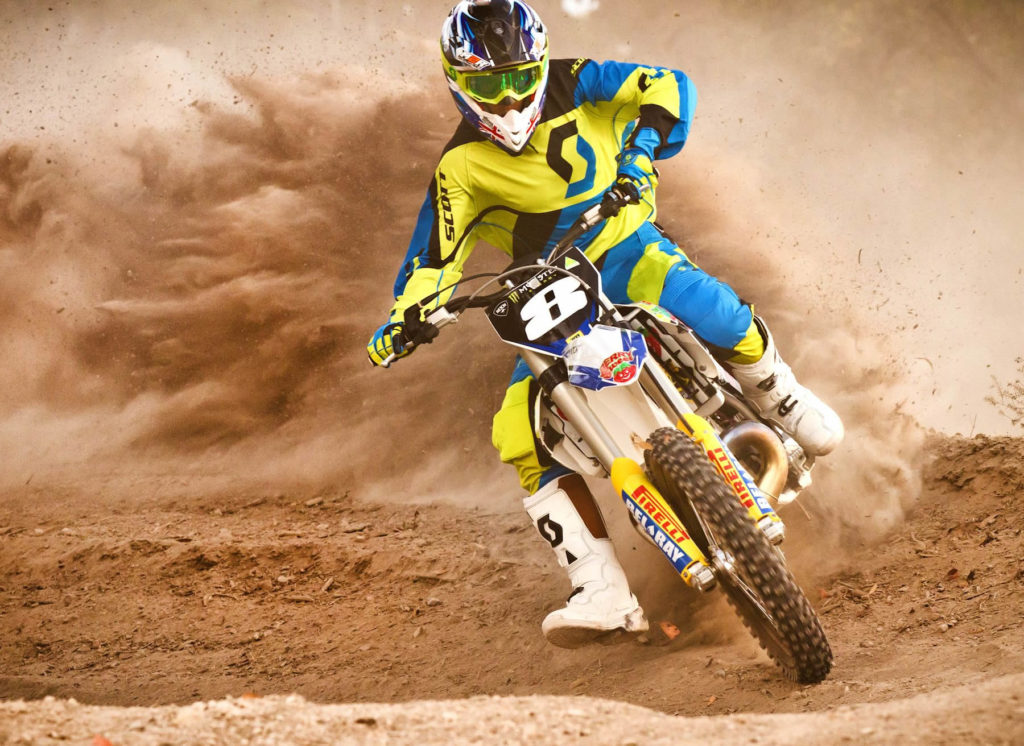 Last year's Junior Lites champ Egan Mastin shows off the brand-new Husqvarna Motocross Racing Team's new colour scheme. The team will come together for the first time at this weekend's second round of the East Coast MX series in Canberra. Pics: Damien Ashenhurst