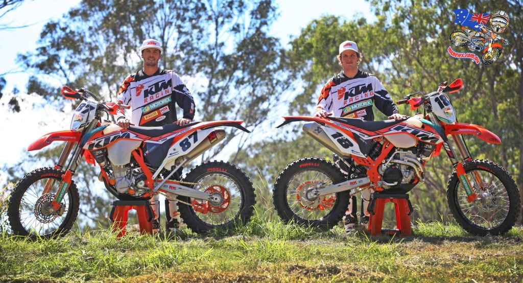 With the frenzied, cut and thrust of Enduro–X behind them, KTM Enduro Racing Team riders Toby Price and Peter Boyle return to their core business of off-road racing this weekend at the AORC opener at Bulahdelah.