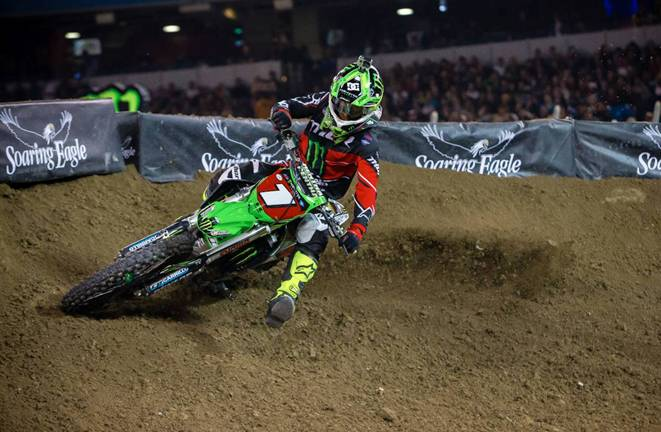450SX Class points leader, Ryan Villopoto - Photo Credit: Hoppenworld