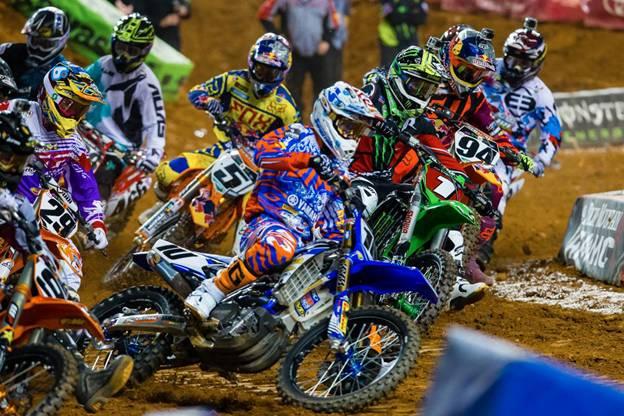 450SX Class Main Event race start in Atlanta - Photo Credit: Hoppenworld