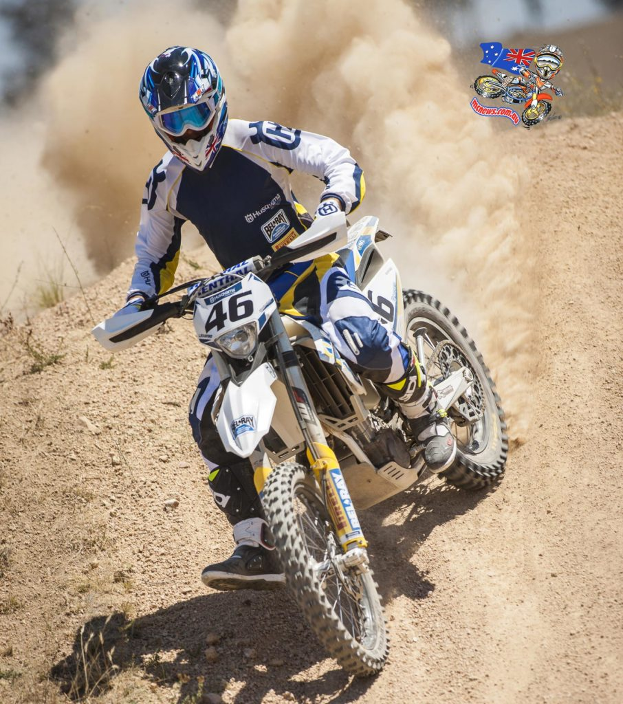 "Lachlan Stanford (FE450): ""Everything's been working to plan, my training with Tim Cole has got me feeling really good. This year I picked E2 because I like the big bores – I know it's the premier class but I think the Husqvarna FE 450 is the bike I can go fastest on.  This feels like the year for me to make something happen, I have a good team behind me and good sponsors so I think we are going to have a good year. I like the tracks at Bulahdelah and it's just exciting to be going racing again."
