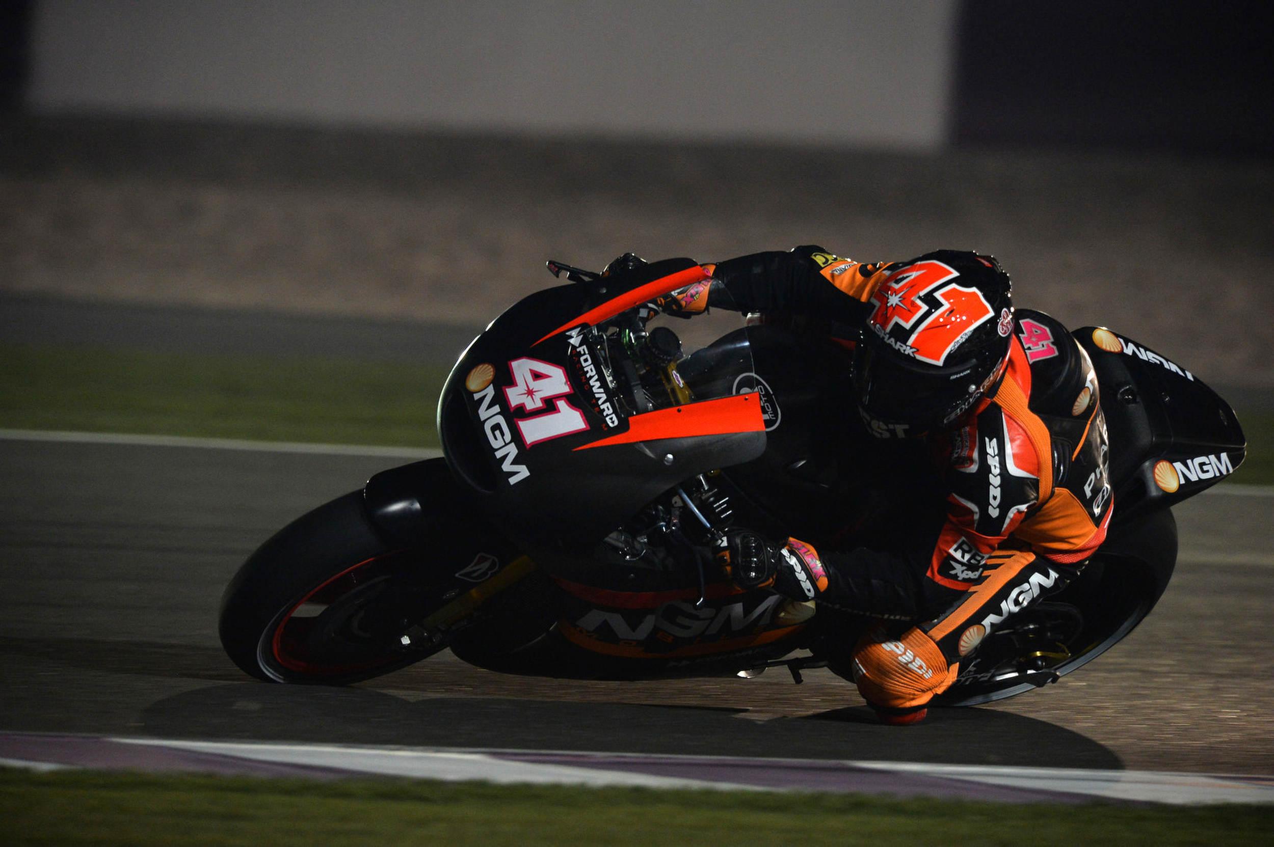 Aleix Espargaro leads as Qatar test gets underway
