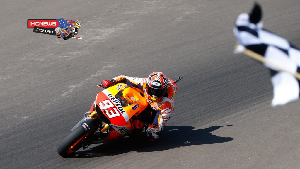 """Marc Marquez - 1st - Championship Standing: 1st - 75 points - """"I am happy with how the weekend went in general and I'd like to thank all my team! I think it was a nice race for the fans, with plenty of passes and I wasn't expecting it to be like that. As the race went on and I saw what the gap was to Jorge Lorenzo and I tried to catch up with him quickly and spend a few laps on his tail. When I saw that Dani was getting closer, I tried to overtake in order to maintain more of a gap. I took 25 more points today which are very important and I've put together three wins in a row, but we are aware that the season is very long and we are now heading to Jerez where Dani and Jorge are very fast. We will need to be up there with them, fighting for the win!"""""""