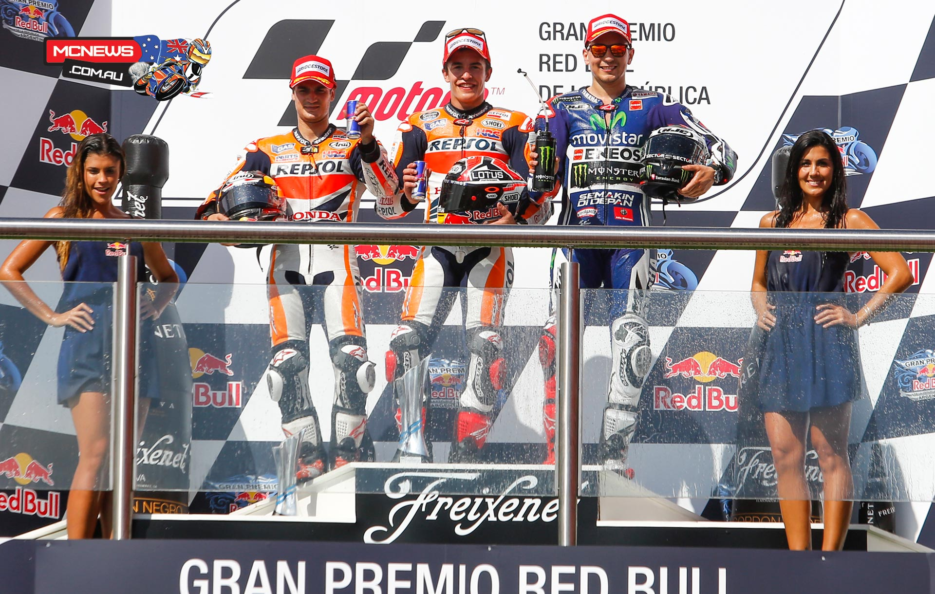 An enthralling 2015 MotoGP race at the Gran Premio Red Bull de la Republica Argentina saw Marc Marquez clinch his third win of the year, ahead of Dani Pedrosa and Jorge Lorenzo in the top three.