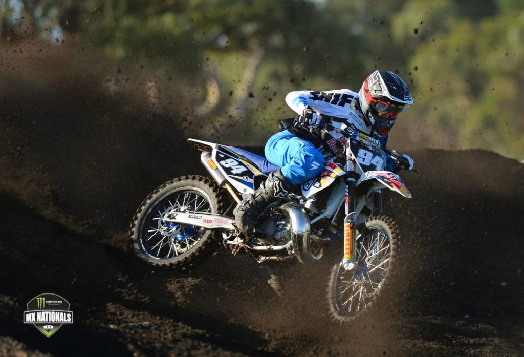 Husqvarna Red Bull WIL Sport NZ Racing rider Kayne Lamont has had a great day at the third round of the 2014 Monster Energy MX Nationals, taking outright honours in the Motul MX2 class.