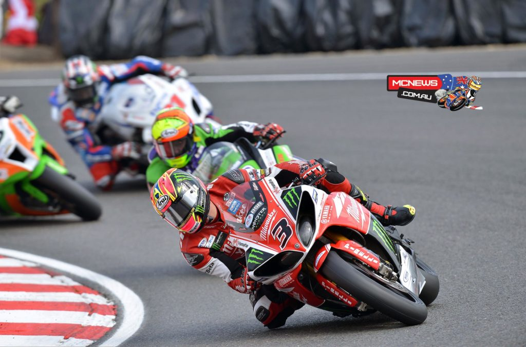 """Brookes said: """"I was really happy with how the second race went. Over the weekend Milwaukee Yamaha have given me everything I needed to do the job and all the mistakes have been mine so I can't blame anyone but myself. Starting from tenth in race two wasn't ideal but I didn't know where I could finish so I wasn't sure how it was all going to pan out. My focus was on whoever was in front of me, that might sound stupid, but I was looking at one rider at a time and nothing else. As I made passes I built confidence and caught Shane but it was too late and I wasn't in a position to make a pass. I am not over the moon with second because we started the weekend with the potential to win races, but it wasn't to be. We will take the second place and see what we can do at Oulton Park because in the past that has been a superb track for the Milwaukee Yamaha."""""""