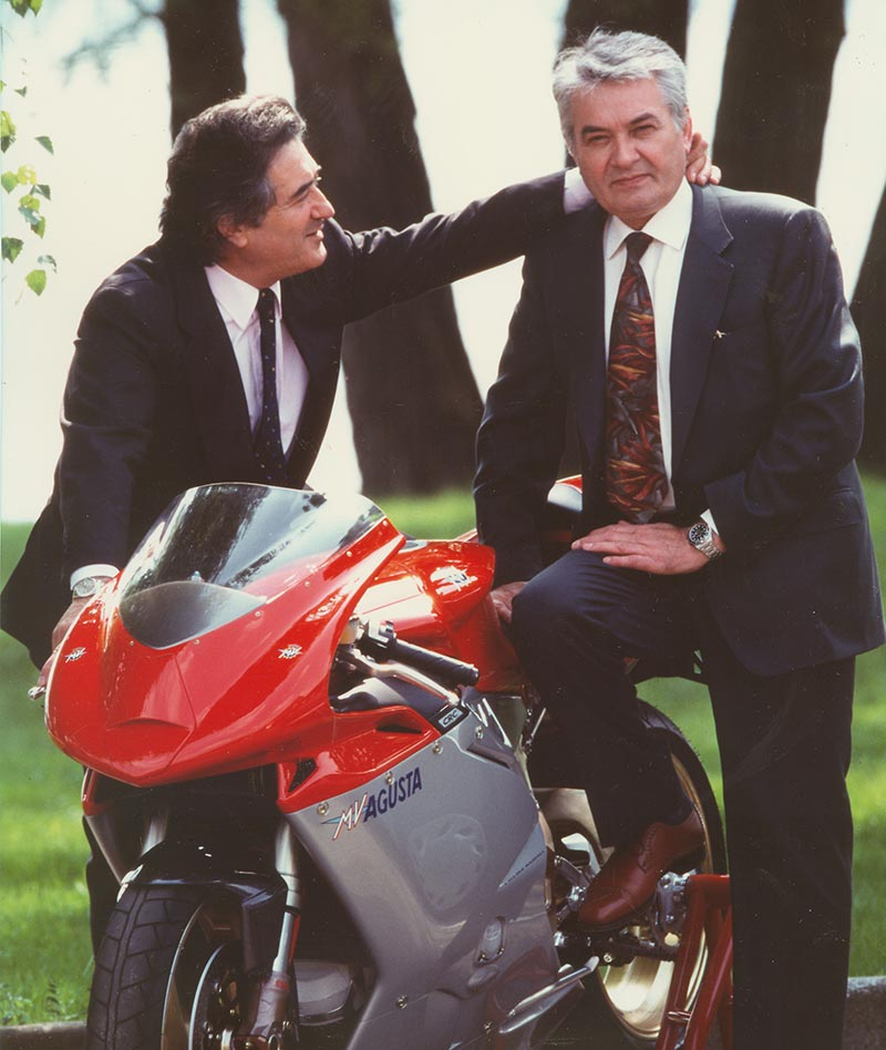 Giovanni Castiglioni, President of MV Agusta and the now passer legendary designer Tamburini