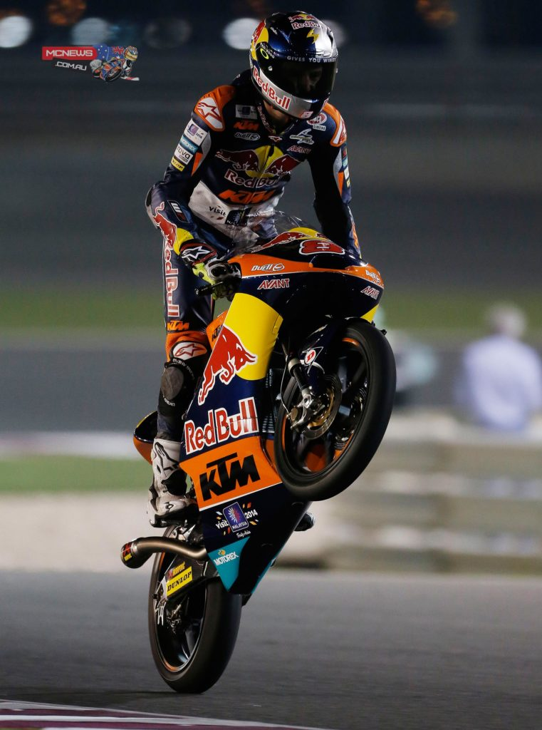 At Losail in 2014, it was Australia's Jack Miller who became a brand-new race winner in his first event with Red Bull KTM Ajo. The popular Queensland rider claimed his first podium finish as well as a race win, with Alex Marquez having run wide to lose the lead on the final lap. This time, the Honda rider will be looking to have the last laugh but will be chased all the way by team-mate Alex Rins; last season, the eventual title contender claimed his very first win in Austin, as the race was split into two halves following a red flag for Jasper Iwema's accident - Image by AJRN