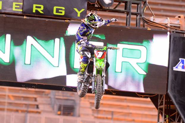 Seattle 1 - Ryan Villopoto won at his hometown race in Seattle for just the second time in his 450SX Class career. Photo Credit: Simon Cudby
