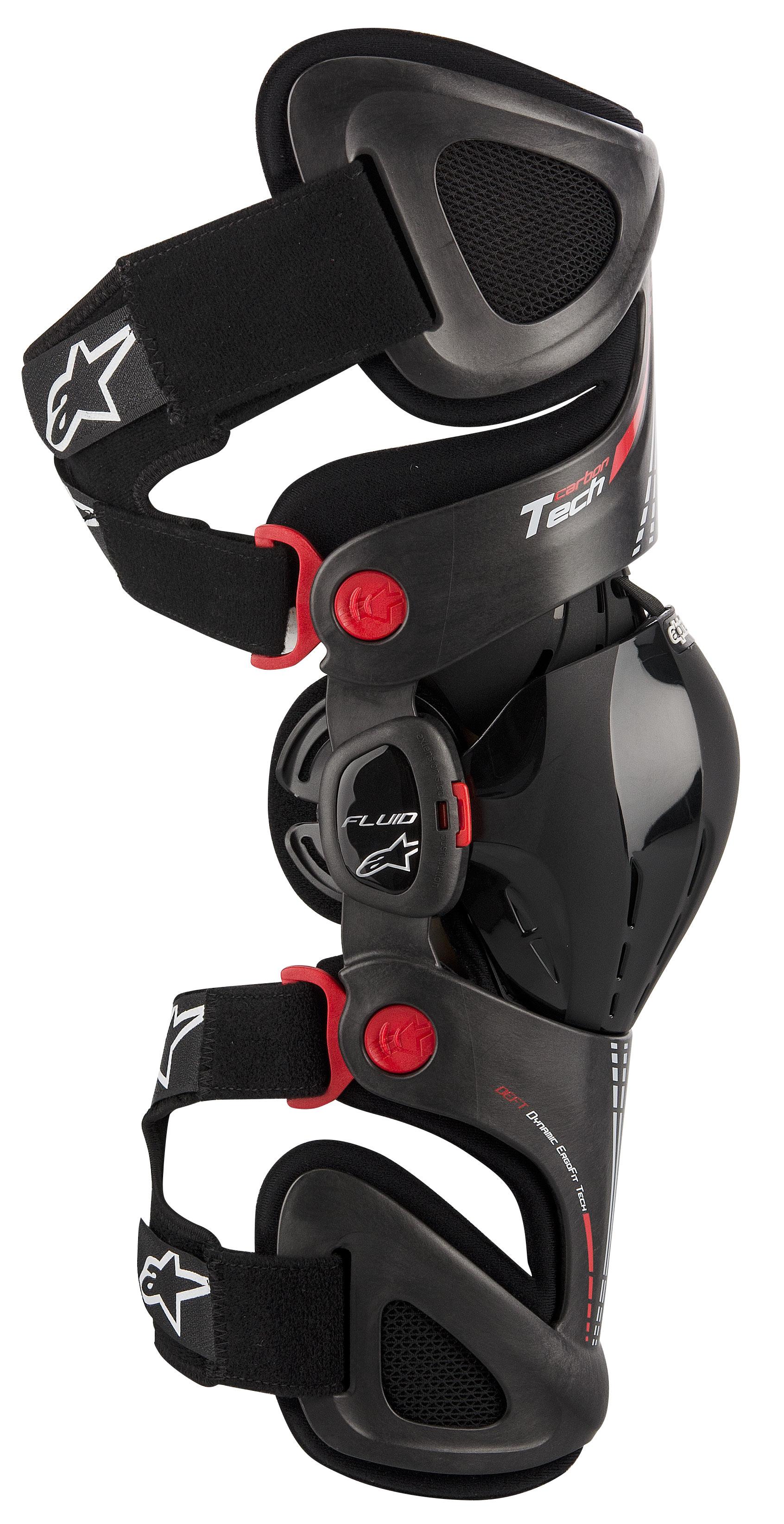 Mx Knee Braces >> Alpinestars Fluid Tech Carbon Knee Braces