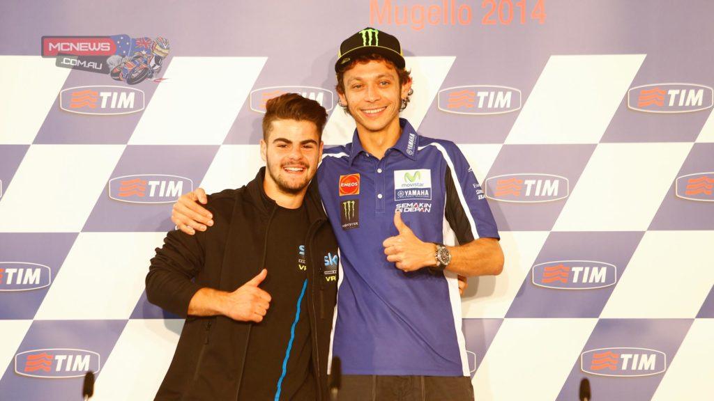 Valentino Rossi and protege Romano Fenati