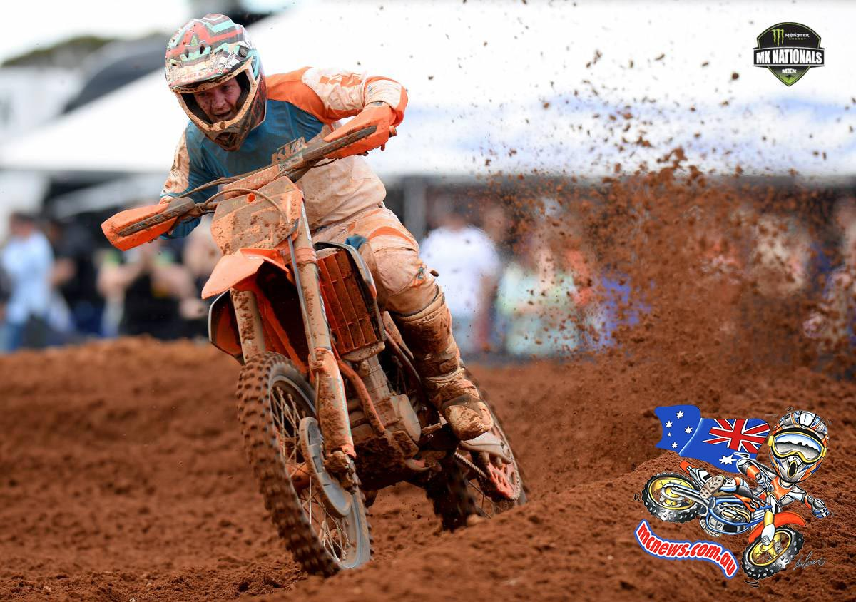 KTM Motocross Race Team's Kirk Gibbs claimed overall honours in the Monster MX1 class at the fourth round of the 2014 Monster Energy MX Nationals at Murray Bridge.
