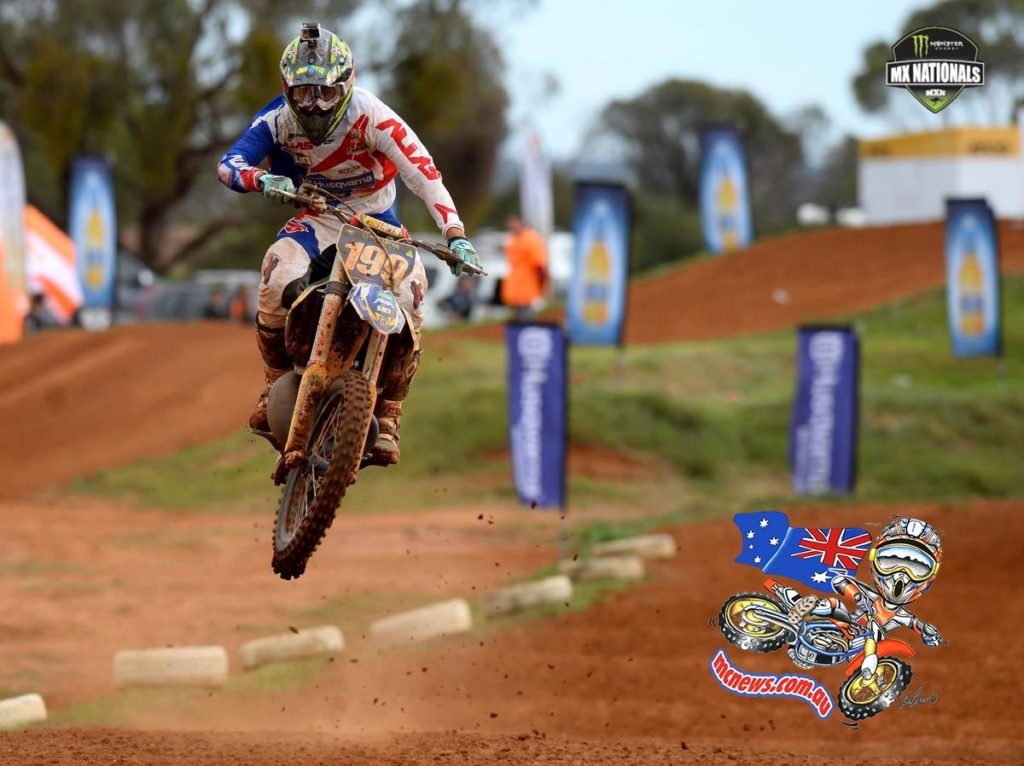 Husqvarna rider Nathan Crawford performed a clean sweep in the Pirelli MXD class at the fourth round of the 2014 Monster Energy MX Nationals at Murray Bridge.