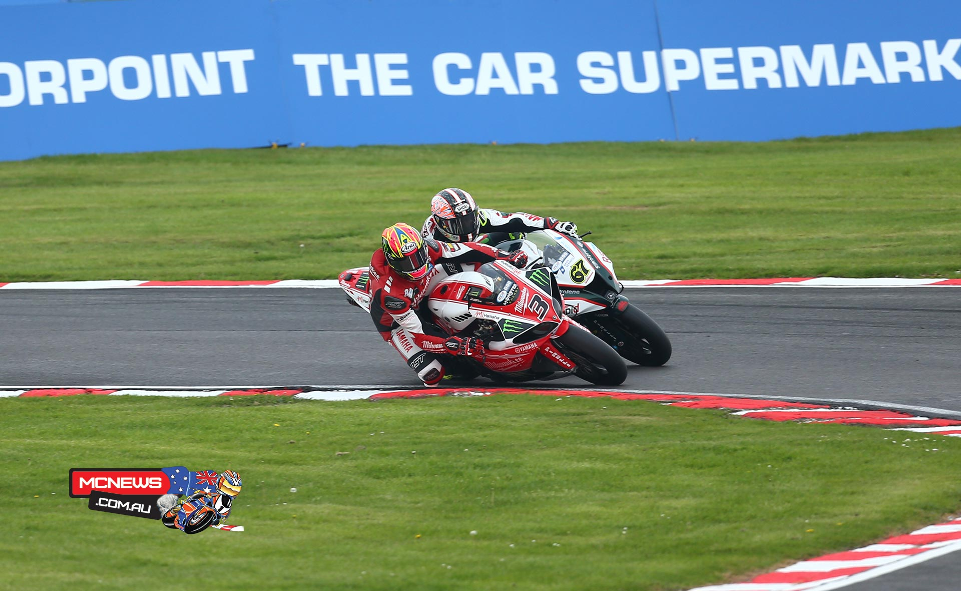 Milwaukee Yamaha's Josh Brookes broke triple champion Shane 'Shakey' Byrne's run of winning form by claiming the victory in the second round of the MCE Insurance British Superbike Championship at Oulton Park.