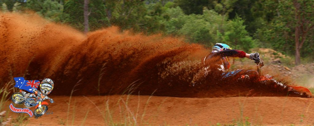 Caleb Ward throws some dirt while practising