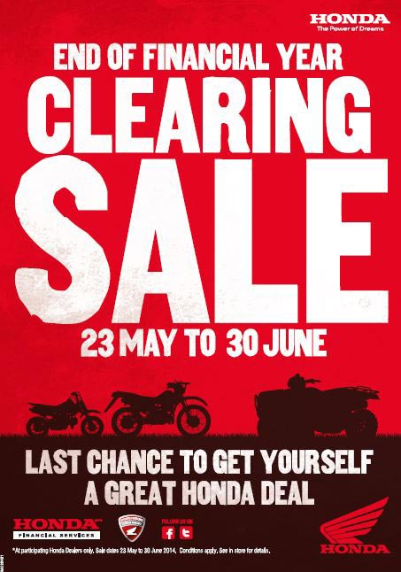 It's now or never if you want to grab a bargain in Honda's ATV, AG and Kid's bike End of Financial Year sale.