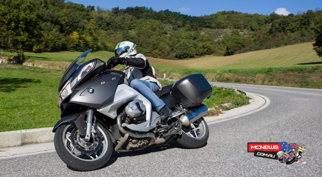 Michelin Pilot Road 4 GT construction specifically to suit large sports-touring motorcycles such as BMW'S R 1200 RT