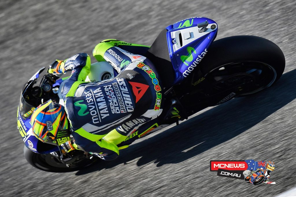 "Valentino Rossi - 4th, 1'38.857 - ""I wanted to try for the front row but I knew it would be very difficult. In all the practice and also this afternoon I wasn't very far from the top three and my lap time is good. I'm quite satisfied because it's the best qualifying and especially I feel good with the bike. We worked well in the practice and I have a good setting. Tomorrow I will try to do the maximum to stay with the top three. We still have to improve something with acceleration as with the high temperature we spin a lot. We will decide on the tyre tomorrow when we see the temperature."""