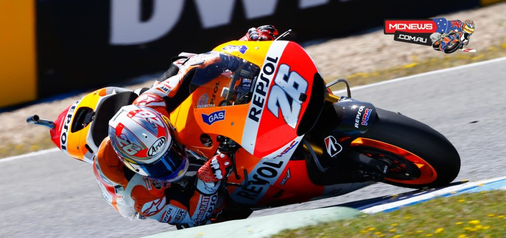 """Dani Pedrosa, Repsol Honda: 3rd - """"The race today was very difficult; I had problems with the front tyre from the opening lap and I tried to overcome the situation as best I could. I saw that Marc was breaking away but couldn't do anything to stick with him – it was completely his race today. I was able to stay behind the Yamahas for many laps, and at the end I made my attack. I was able to overtake Lorenzo but would have needed one or two more corners to try and pass Rossi. I did my best and took third place. We will see if at tomorrow's test we can be closer to Marc and fight to the maximum at the next race."""""""