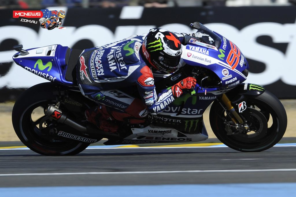 """Jorge Lorenzo - 7th / 1'34.054 / 21 laps - """"I'm satisfied with the pace which is constant and with my riding. We are not in a position that reflects our performance in the time sheets; we were the only one with the same tyre the whole session instead of putting a new tyre on at the end or running an open tyre. I think with a new tyre we could have improved half a second at the end."""""""