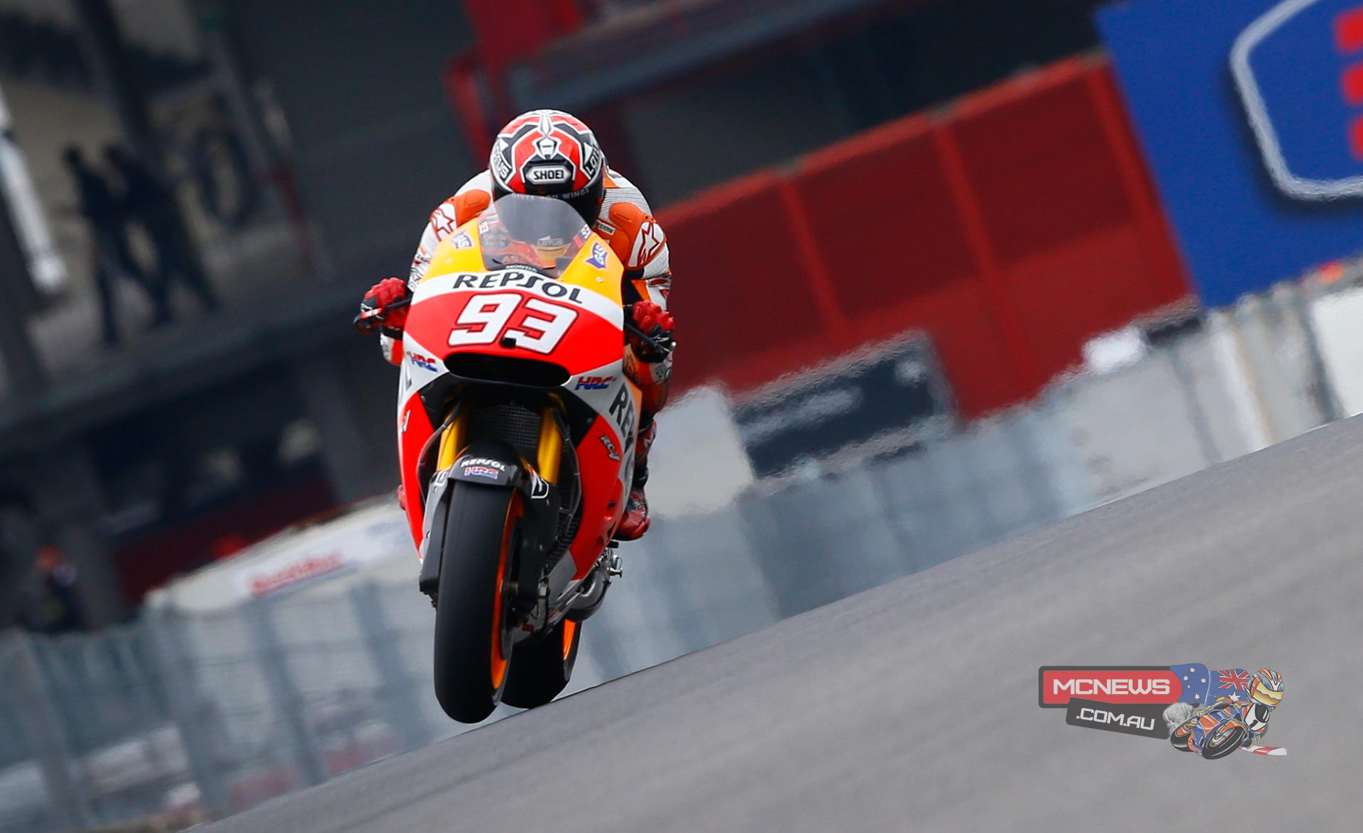 "Marc Marquez - 1st - 1'48.004 - ""Today was a really good day, I began with a few questions on my mind after last year - when this track was one of those that I found most difficult - and I saw that things have changed completely after a year of experience. The morning went well and the feeling was good, but in the afternoon we didn't go out as it was raining on-and-off and the surface was neither fit for dry riding nor wet tyres. I felt very comfortable on the bike, there was a big difference compared to last year and I'm feeling much better about things and we hope to continue improving"""