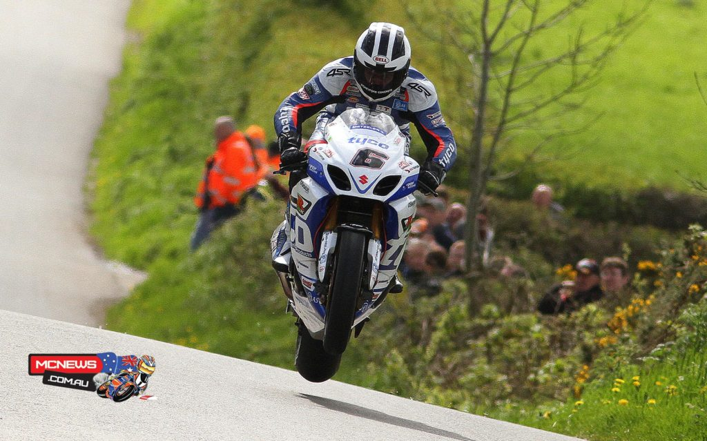 """William Dunlop:  """"I'm pretty pleased with that for an opening day at the North West. I had every confidence we could be up there on the GSX-R600 Supersport bike but was also looking for a top ride on the Superbike. I will take fourth place happily. We had no major problems and with more time on the Superstock bike in a full session we can get well-up the grid."""""""