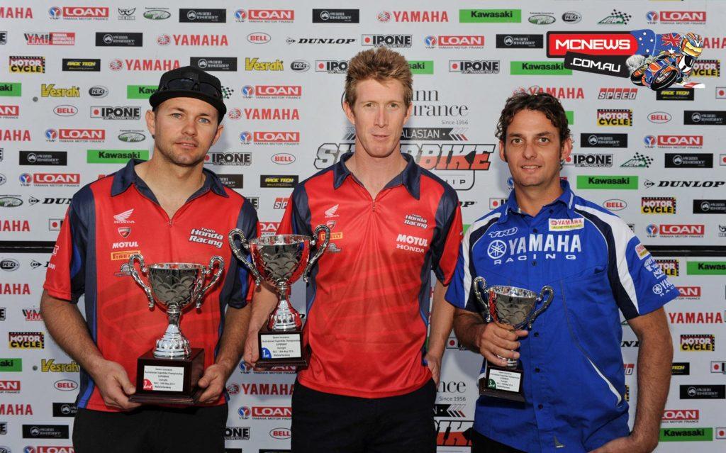 Swann Australasian Superbike Championship Round Two Mallala Superbike Podium