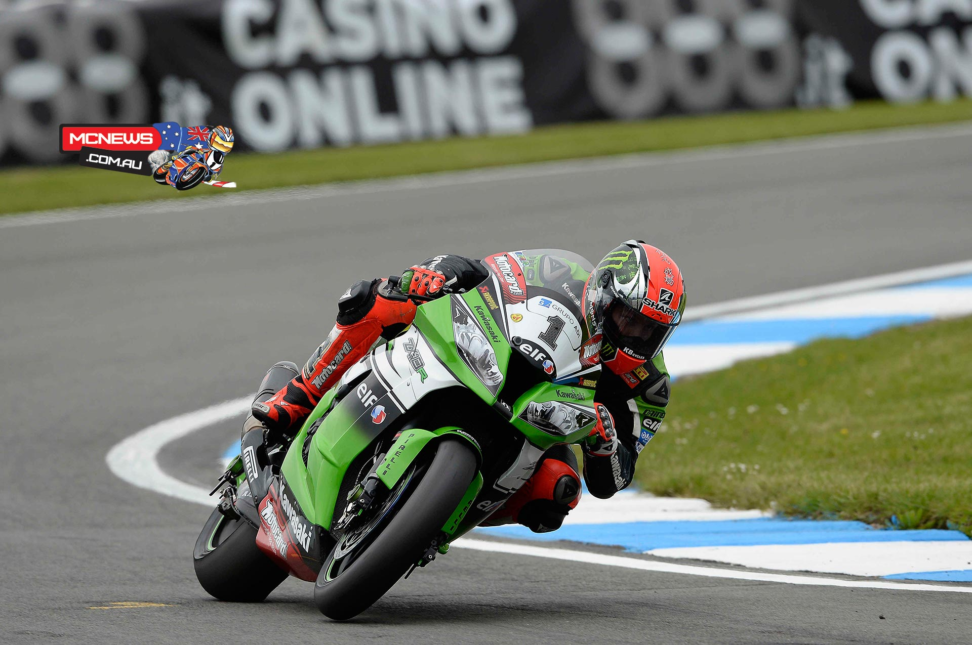 Tom Sykes (Kawasaki Racing Team) posted a series of 1.27 laps to round out the opening day on top at an overcast Donington Park. The reigning Champion was within half a second of his own outright circuit record and he takes an advantage of almost a quarter of a second into tomorrow.
