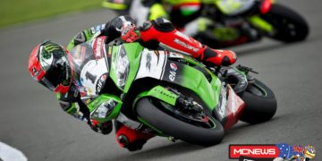 """Tom Sykes: """"Yes, maybe race one was the best race of my career. Winning the world title will always be the most emotional one but in terms of performance today maybe the top of the list now. We had a problem on the first laps of race one and Loris came quite aggressively in turn one. I am not complaining but this took away my natural line and I got put onto the marbles. I lost some positions and in the first half a lap, on full lean angle the bike was cutting the power. I almost came into the pits but the Ninja cleared itself and after that the bike was working very well. I was in tenth or 11th position early on and I was very motivated to move back to the where I feel we should be at the front. It was difficult to pass because a lot of guys were using their fresh Pirelli tyres to their full advantage and after six laps I really started to make a plan of attack to win. In race two I had a good start but I knew Loris would have a good pace and Sylvain Guintoli always goes well round Donington. Sylvain led for half the race but I just kept pushing and took the lead and then the win. It is great to take another double after Aragon and also take the championship lead again. The summer weather really arrived back at Donington for my home round today."""""""