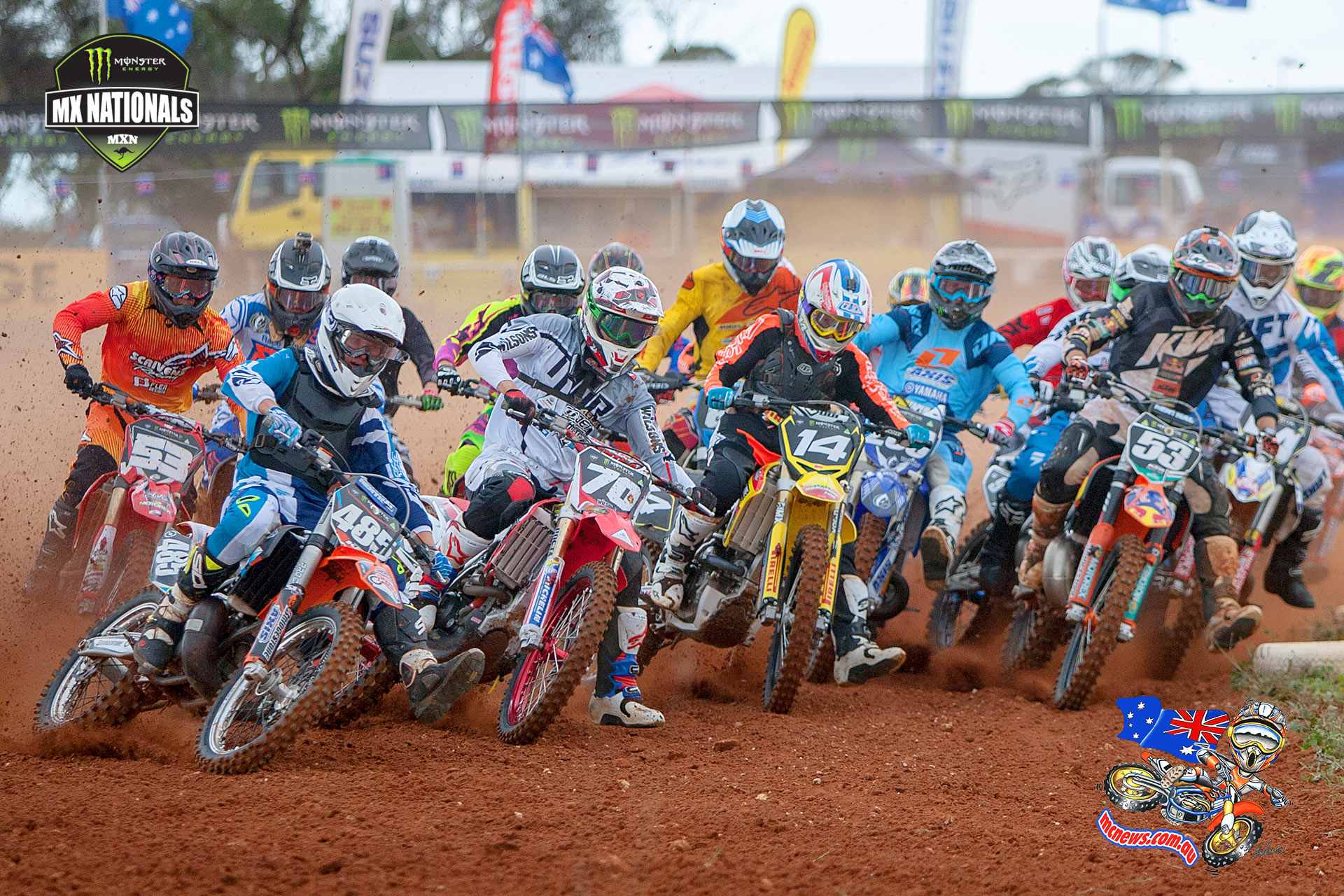Caleb Ward on his way to a holeshot on the weekend at Murray Bridge