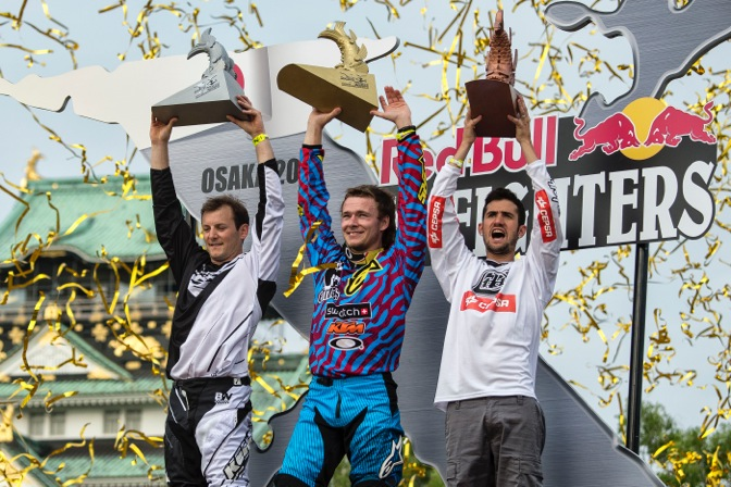 Sherwood won the season opener in Mexico City before dominating the battle at Osaka Castle today with runs that were nearly flawless. Rémi Bizouard of France earned second-place honors, with Dany Torres of Spain in third.