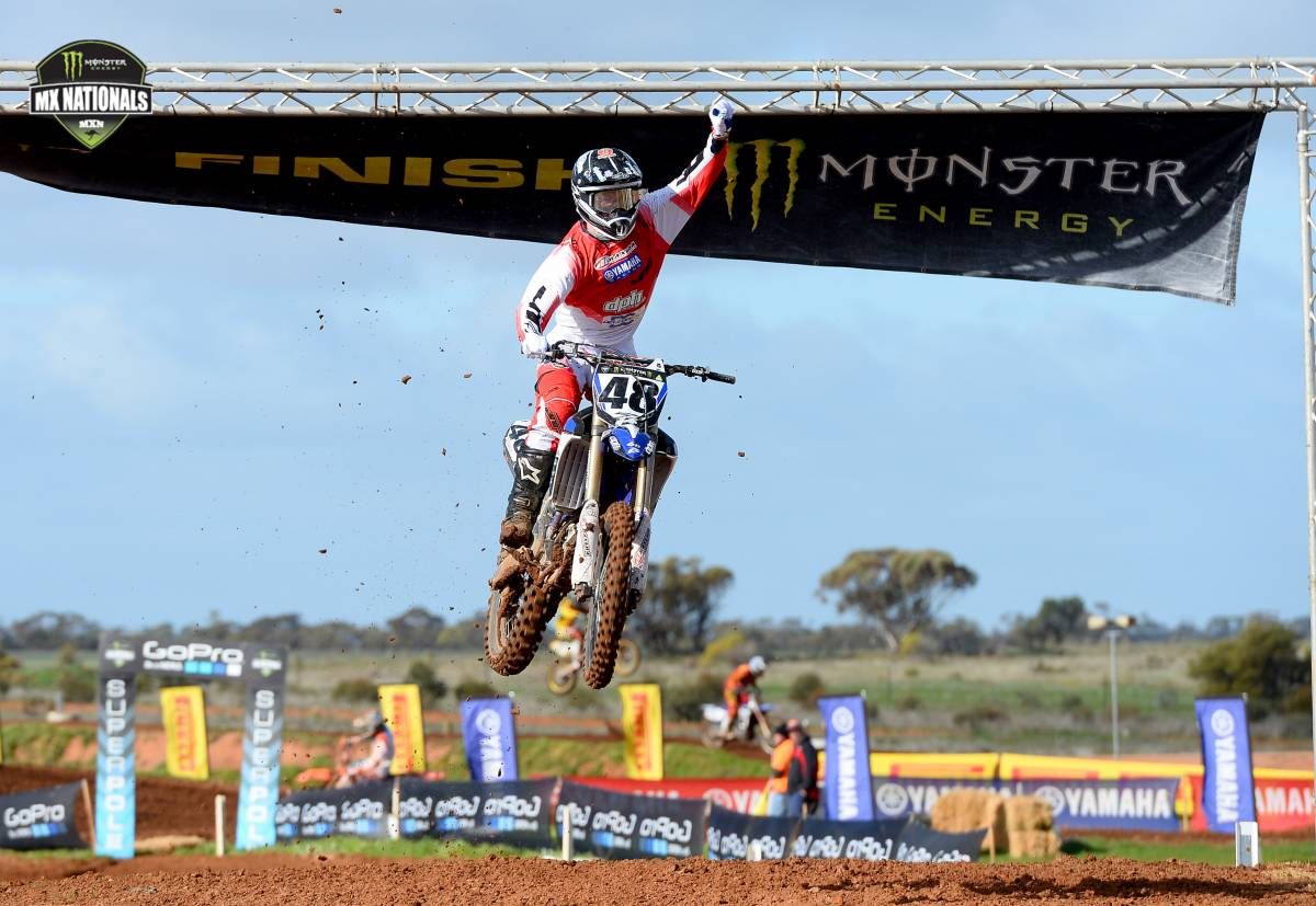 DPH Motorsport rider Kade Mosig has had a fairytale weekend at the sixth round of the Monster Energy MX Nationals, topping off his first Open race win by taking the overall round honours at Swan Hill.