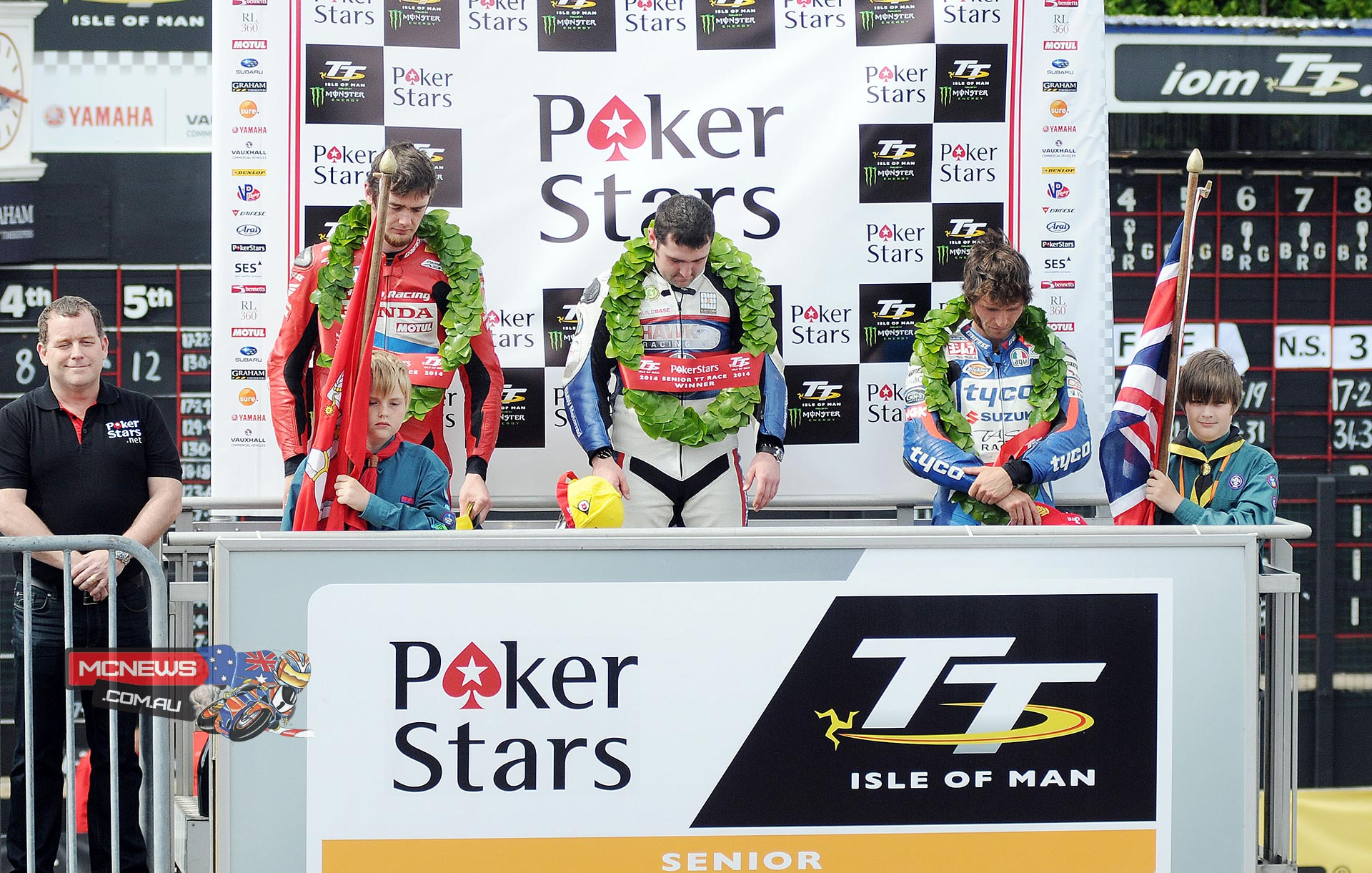 2014 IOM Senior TT Podium