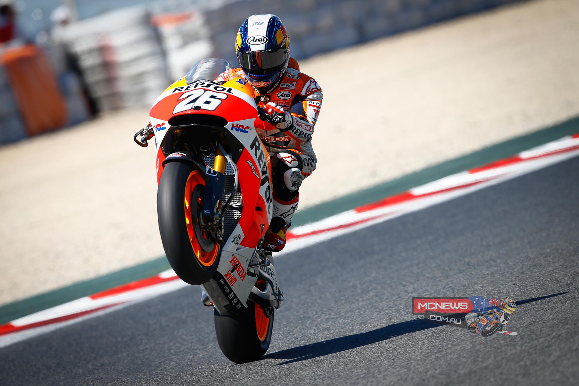 "Dani Pedrosa - 1st - 1'40.985 - ""I am very happy to have taken pole position today, in front of my family and the home fans! I am also delighted that, for the first time this year, I felt good on the bike in qualifying. I'll try and get a good start from pole position tomorrow, I am sure that it will be very hot and we will have to manage the tyres well during the race, but we will try to do as well as possible!"""