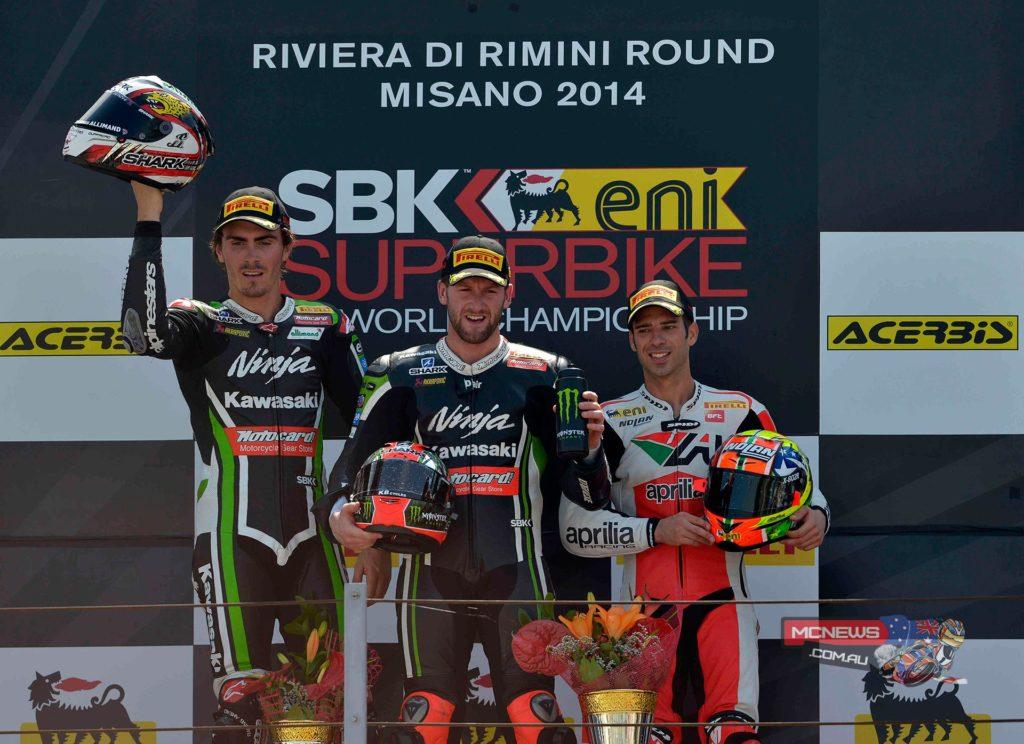 Misano World Superbike 2014 - Race One Podium