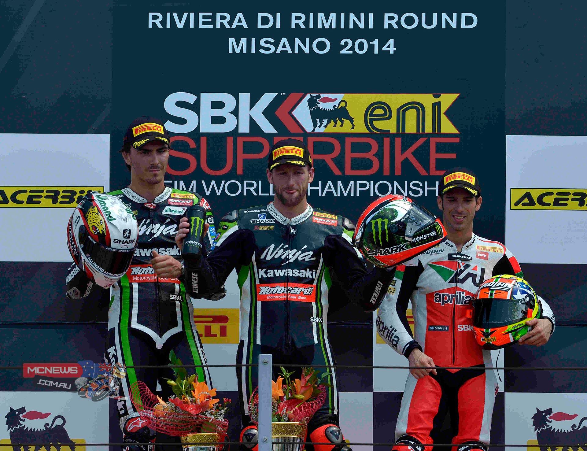 Misano World Superbike 2014 - Race Two Podium