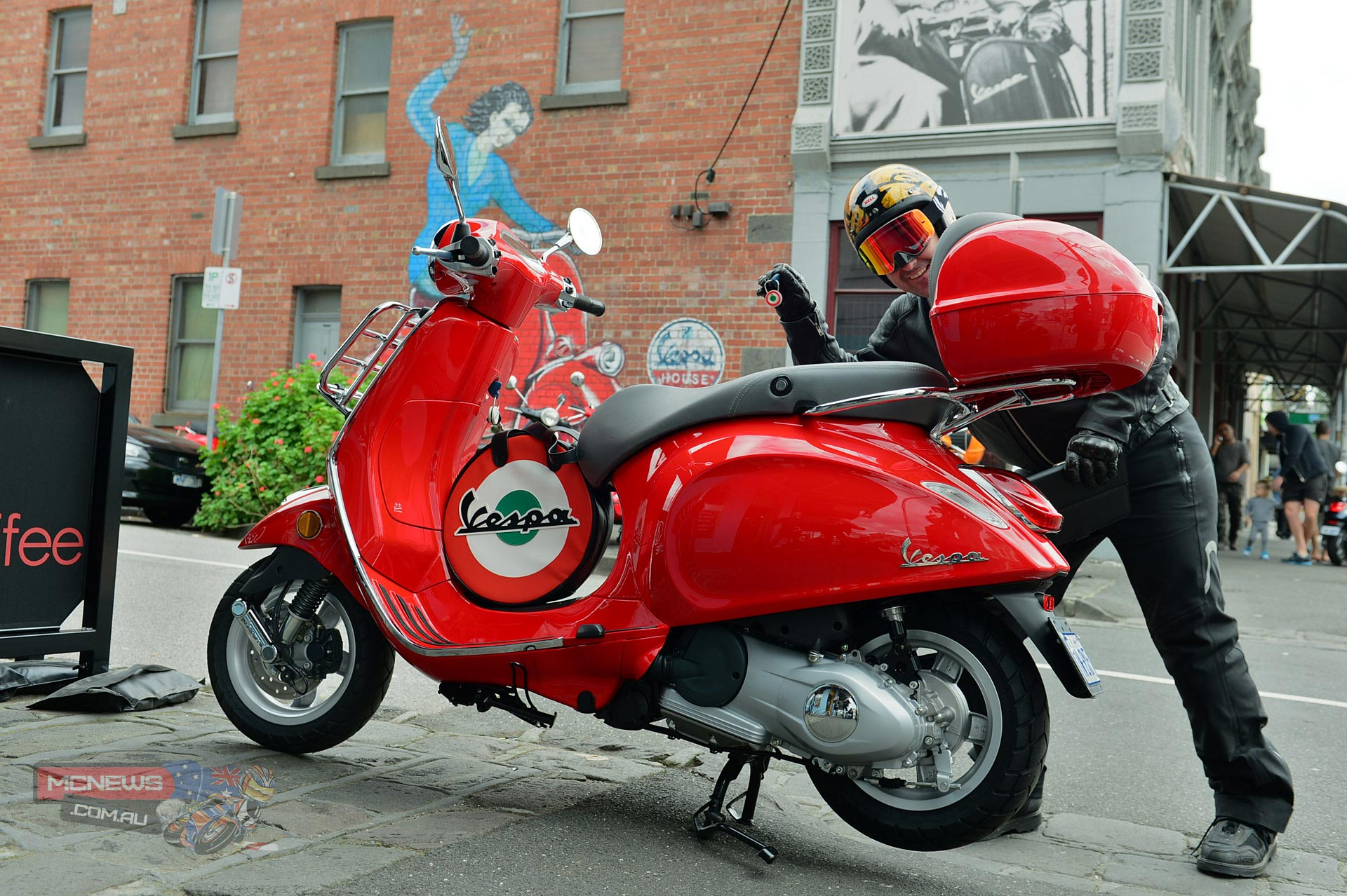 Vespa Primavera and Trev being a plonker