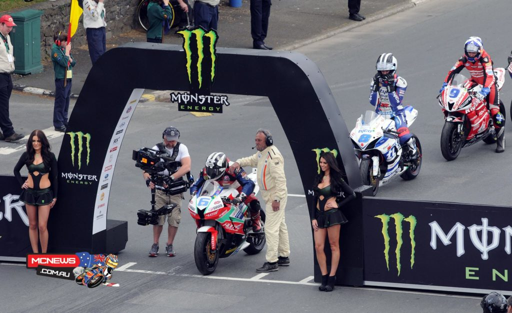 Michael Dunlop joined legendary names Giacomo Agostini, Stanley Woods, Rob Fisher and Ian Lougher on 10 wins when he led the second Monster Energy Supersport TT race from start to finish.