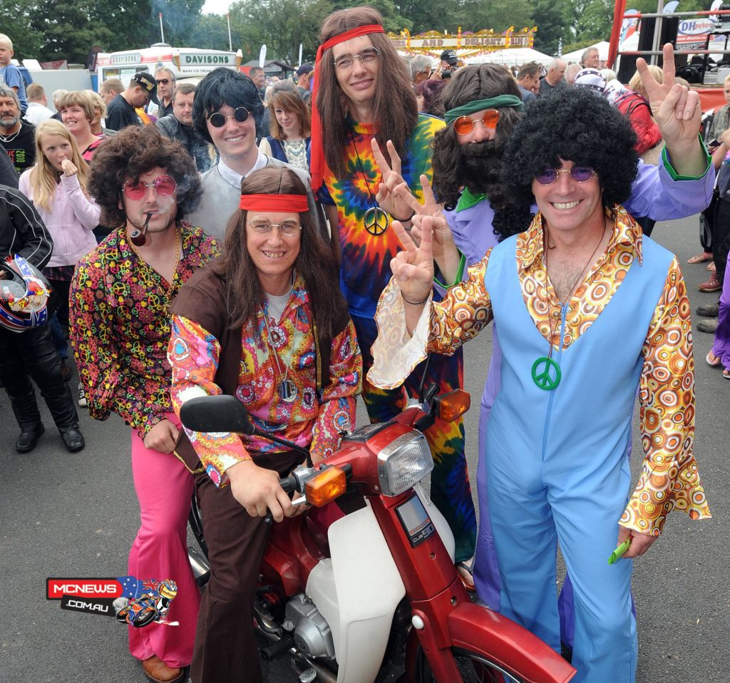 John McGuinness, Michael Dunlop and other stars get into the swing of things during the inaugural paddock carnival.