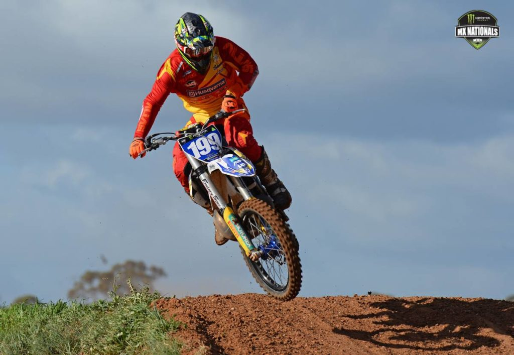 Wildcard Husqvarna rider Nathan Crawford stunned all onlookers at the sixth round of the 2014 Monster Energy MX Nationals at Swan Hill, taking the outright honours in the Monster MX1 class.