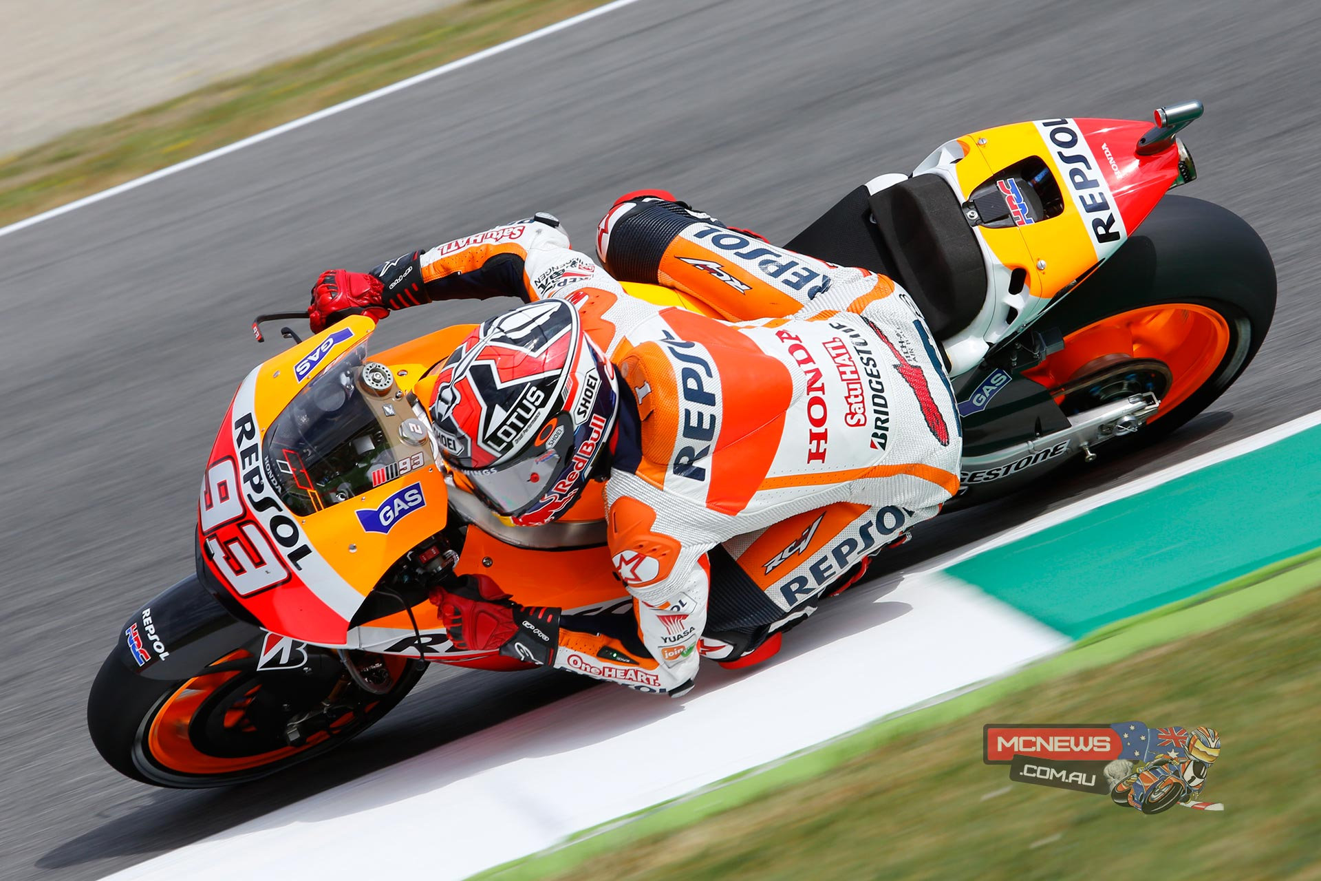 "Marc Marquez, Repsol Honda: 1st, 1m 47.270s - ""I'm very happy to have taken this pole position at a track that I found very difficult last year. I've felt good on the bike right from the opening practice session this time around, and this shows that we are working well this season – because in 2013 it was much harder to be up at the front. As for the race, it will be difficult to break away and do what I've been doing up to now, because at this track you tend to ride in a group and things are more tightly packed. However, I will try to give 100 percent in order to fight for the victory."""