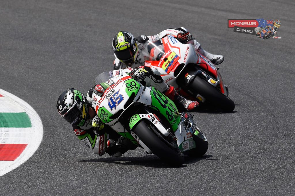 """Scott Redding, GO&FUN Honda Gresini: 13th - """"The beginning of the race was really good. I had a good rhythm and I was running with Aleix Espargaro, and I also overtook him during the race. That is a good step forward for us. But then I got stuck with the Ducatis of Hernandez and Pirro, losing so much time on the straight. I tried to pass them early in the lap in order to make a gap, but it was quite hard. After eight or nine laps I also broke the windscreen, so I had a really bad aerodynamics, and also a lot of turbulence on the head and that made my race more difficult. In the end I'm happy with my race, I'm just disappointed to be behind the two Ducatis and Abraham, because I know we should have got the top ten today."""""""